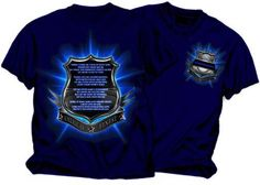 Hey, I found this really awesome Etsy listing at https://www.etsy.com/listing/154106662/police-officers-prayer-thin-blue-line-t