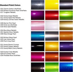 Maaco Paint Selection Color Chart Charts Custom
