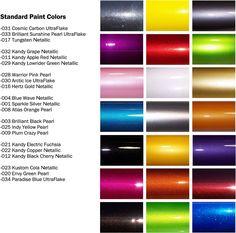 Maaco paint selection