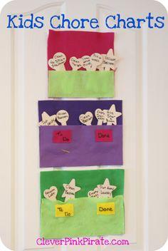 DIY Felt Kids Chore Chart » Clever Pink Pirate