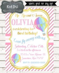**Printable Custom Invitation**    1 JPEG Invitation file in chosen size sent to your EMAIL that you provide. Watermark / shop name will not appear on final image.    **How to order**    Choose the size for your invitation.Please sendan email to me at jonishamley@gmail.complease make sure to include necessary information needed to customize your invitation, as well as theinvitation size you prefer.    Including but not limited to:    Child's Name, Child's Age, Party Date, Party Time…
