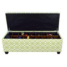 The Sole Secret Noah Summertime Button Tufted Shoe Storage Bench