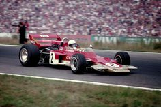 Jochen Rindt venceu GP da Alemanha de 1970 com a Lotus-Ford 72 (Foto: Getty Images) Sports Car Racing, Road Racing, Race Cars, Auto Racing, Le Mans, Formula 1, F1 Lotus, Jochen Rindt, The Golden Years