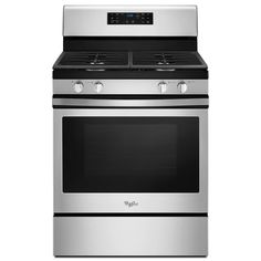 $499 No reviews.  Whirlpool 4-Burner Freestanding 5-cu ft Convection Gas Range (Stainless Steel) (Common: 30-in; Actual: 29.875-in)