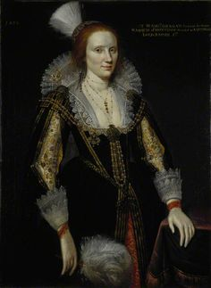 Adam de Colone, Margaret Graham, Lady Napier, d. c Sister of Marquess of Montrose and wife of Lord Napier Oil on canvas x cm Scottish National Portrait Gallery New Fashion Gown, Fashion Art, Historical Costume, Historical Clothing, Mode Renaissance, Renaissance Clothing, Isabel I, 17th Century Fashion, 18th Century