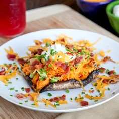 Loaded Sweet Potato Portabella Mushrooms - Snixy Kitchen