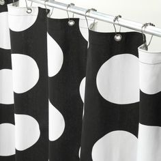 Black and White Polka Dot Shower Curtain