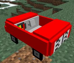 This mod adds a car (an old one), the 313 (Donald Duck's car), a Jeep and a Ferfari (joke with Ferrari). You can enter and drive every car, and every car has its own speed. There are also achievements on their own page. This mod also has it's own creative tab.