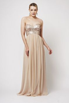 White and Gold Wedding. Gold Bridesmaid Dress ...