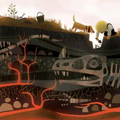 Fossils by Joey Chou #dinosaurs