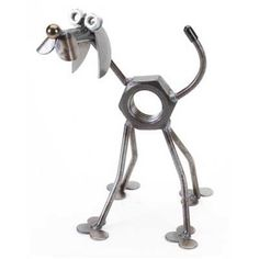 Recycled Metal Yard Art | Mini Nuts the Dog Yardbirds Richard Kolb CHECK PRICE: