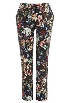 Warehouse Winter Floral Printed Trousers, £45