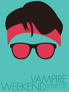 vampire weekend minimal concert poster design