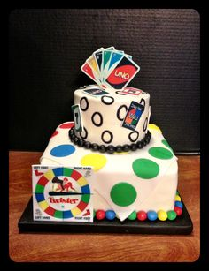 UNO and twister cake by PattiBCakes