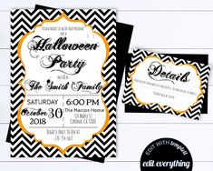 photo about Halloween Invites Printable named Halloween Invites Editable Halloween Get together Invites