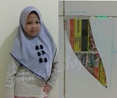 pet anak Clothing Patterns, Sewing Patterns, Baby Hijab, Hijab Cartoon, Baby Dress Design, Islamic Fashion, Hijab Tutorial, Designs For Dresses, Shawl Patterns