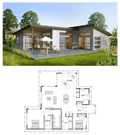 Modern Style House Plan 3 Beds 200 Baths 2115 SqFt Plan 497 31