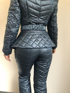 Ski, figure skate designer overall blue Nylons, Moncler Jacket Women, Winter Suit, Snow Suit, Figure Skating, Cold Weather, Skiing, Overalls, Leather Pants
