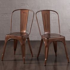 Shop for Tabouret Brushed Copper Bistro Side Chairs (Set of 2). Get free shipping at Overstock.com - Your Online Furniture Outlet Store! Get 5% in rewards with Club O!