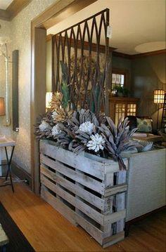 pallet planter and room divider