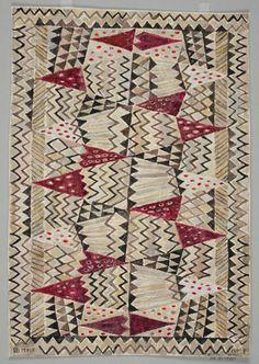 Midcentury rug design by Swedish artist Ann-Mari Fosberg (1956)