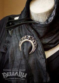 Dark of the Moon brooch