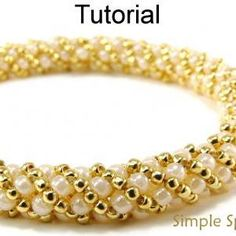 Seed+Bead+Square+Stitch | Beading Tutorial Pattern PDF Russian Spiral Stitch Seed Beads Beaded ...