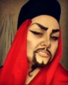Did  a makeup test for young Jafar earlier by impulse. #cosplay #jafar #aladdin…