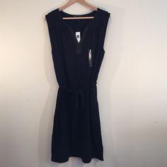 GAP Dress GAP, New w Tags, Size L, Color Black, Cotton, Polyster, Knee-Length, Sleeveless. Never worn. GAP Dresses Midi