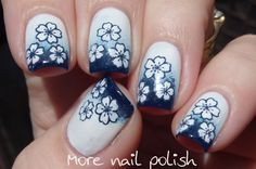Gradient with advanced stamping, inspired by ModCloth dresses ~ More Nail Polish