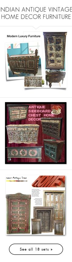 """""""INDIAN ANTIQUE VINTAGE HOME DECOR FURNITURE"""" by baydeals on Polyvore featuring interior, interiors, interior design, home, home decor, interior decorating, Post-It, Lichtenberg, Improvements and vintage"""