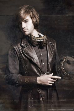 I swear I repinned for the leather vest...okay and the hair :3