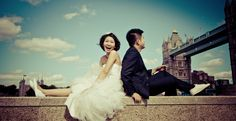 Pre-wedding Photography using Tower bridge as a background