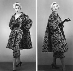 1953 Stella in cocktail ensemble by Jacques Fath, photo by Philippe Pottier,