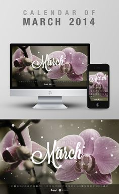 Free Wallpaper Calendar of March 2014