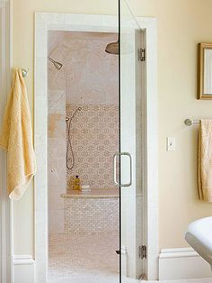 Elegant Shower Enclosure love the steam shower room idea as well