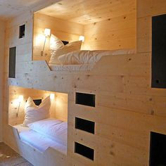 You'd feel like you were sleeping in a fort everynight if you had these beds.