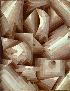 Cristal, tinta para aquarela por Paul Klee (1879-1940, Switzerland)