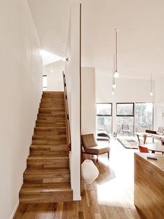 This clean home design makes a small space feel larger. room design home design decorating before and after house design House Design Photos, Small House Design, Cool House Designs, Modern House Design, Beautiful Interior Design, Home Interior Design, Interior Architecture, Modern Interior, Interior Stairs