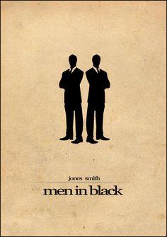 Men in Black [Barry Sonnenfeld, 1997] «Minimalism Film Posters Art Author: Al Pennyworth»