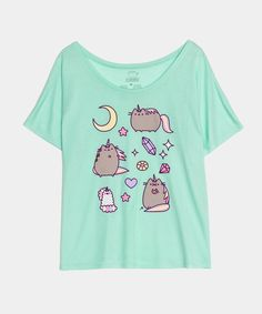 $24 Pusheenicorn ladies relaxed tee---This site is super adorable!! I want everything! lol