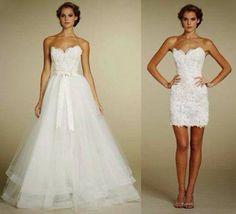 Saia removivel para vestidos de noiva