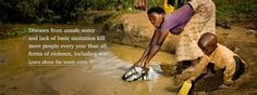 Learn about the water crisis - diseases from unsafe water