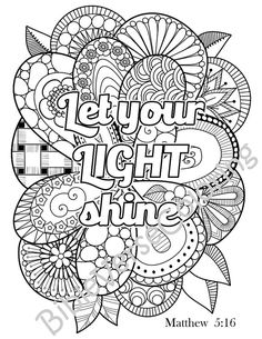 6 Bible Verse Coloring Pages | Free bible, Bible and Cloud
