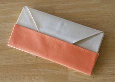 diy color block origami clutch (via freckles in april)