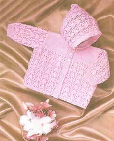 PDF Knitting Pattern Baby Knitted Hooded by georgie8109 on Etsy