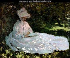 Claude Oscar Monet- A woman Reading