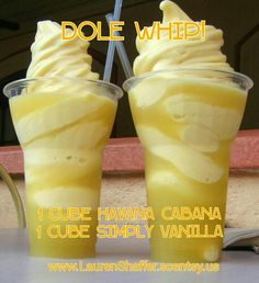 DOLE WHIP Scentsy Recipe 1 cube Havana Cabana and 1 cube Simply Vanilla  order at www.LaurenShaffer.scentsy.us