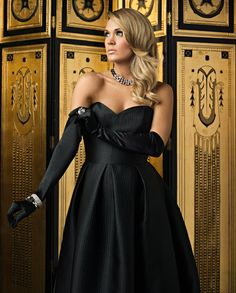 Carrie Underwood l Elegant Black Dress Carrie Underwood Photos, Sara Underwood, All Black Dresses, Strapless Dress Formal, Formal Dresses, Country Music Artists, I Love Girls, My Idol, Carry On