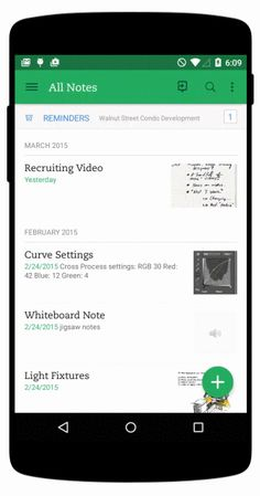 Evernote Android Material Design